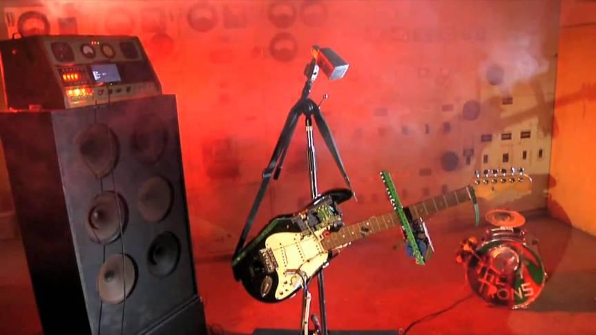 Kiwi robot band grabbed for Parisgig